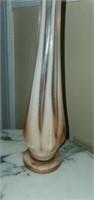 Pale Pink Stretch Blown Glass Vase