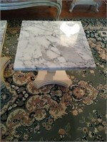 Small Victorian Style Square Marble Top Tables