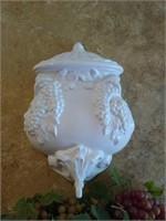 Ceramic fountain decor with grapes