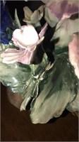 Stunning Capodimonte Porcelain Flower Decor