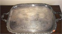 WW Footed Silver Plated Platter