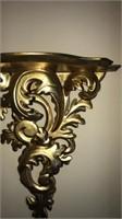 Gold Gilded Decorative Wall Shelf