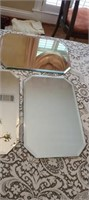 Estate lot of 7 beveled edge display mirrors