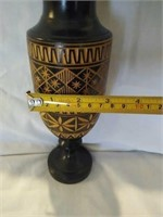 Vintage wood carved vase