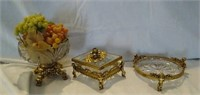 Lot of crystal decor pieces