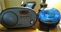 Voicemail alarm clock and weather clock