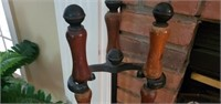 3 Pc Cast Iron Fireplace Poke Set