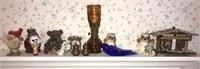 Estate Shelf Lot of Misc. Decor Items