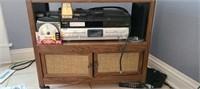 Estate lot of a dvd player, vhs, roll cart, ect