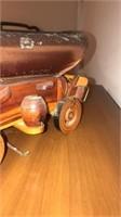 Vintage wooden model carriage