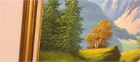 Stunning Ash painting on canvas of mountains