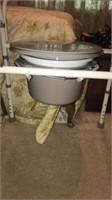 Estate lot of chairs and ottoman