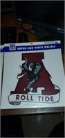 2 Alabama Crimson Tide Super Size Vinyl Decals