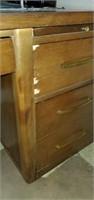 Vintage Mid Century Modern Style Wooden Desk