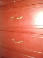 Large wooden five drawer