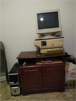 Vintage computer cabinet and more