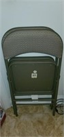 Lot of 2 Foldable Grey Chairs