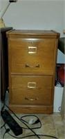 Vintage 2 Drawer Wooden File Cabinet