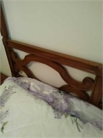 Wooden full size bed set