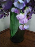 Floral decor in glass vase