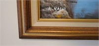 Beautiful Framed Oil on Canvas A. RABIA Painting