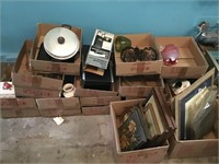 Large Lot of Box & Contents Toaster Oven,