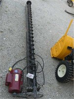 8 1/2ft Bin Auger w/2hp Leeson Electric Motor