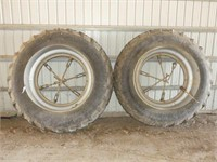 Pair of Goodyear 18.4R42 Snap-On Duals w/Hardware