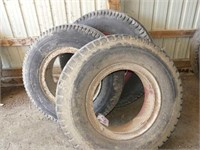 (3) 9.00-20 Tires and Rims
