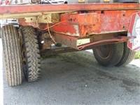 16 1/2ft x 7ft Flat Rack on Truck Frame Wagon