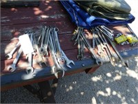 Lot of Std. Wrenches, 1 Std. Stubby Set, 1 Met.