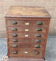 Oak store cabinet w/panel side