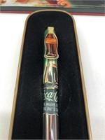 1995 Coca-Cola pen Santa, with case