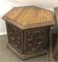Two vintage retro end tables