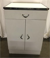 """Vintage metal kitchen cabinet 24"""" across 36"""" tall"""