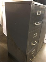 Cole-Steel Three drawer file cabinet with built