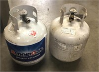 Two propane tanks feel like they might be full