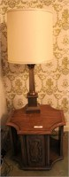Lamp Table, Plant Stand, And Table Lamp