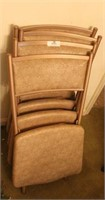 Four Vintage Folding Chairs