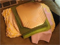 Placemats, Two Afghans, Blanket