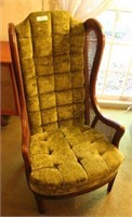 Vintage Wing-Back Chair