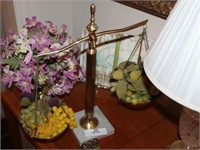Brass Balance Scale, Crystal Lamp, & Misc.