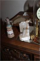2 Door End Table, Anniversary Clock, & Misc.