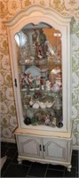 French Provincial-Style Curio Cabinet