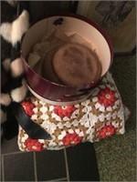 McCoy Vases, Afghan, & Two Fur Hats/Coats