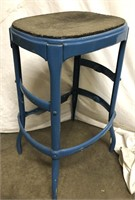 Vintage metal stool appears to be missing the