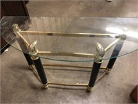 Glass retro table 48 inches long