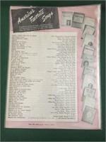 10pcs of Sheet Music