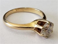 Diamond Solitaire Engagement Ring, 14kt