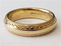 Scalloped 14kt Band Ring, 3.9dwt - 5mm